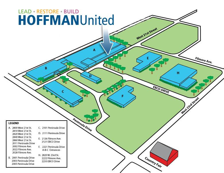 EBCO Park Map, Erie Pa
